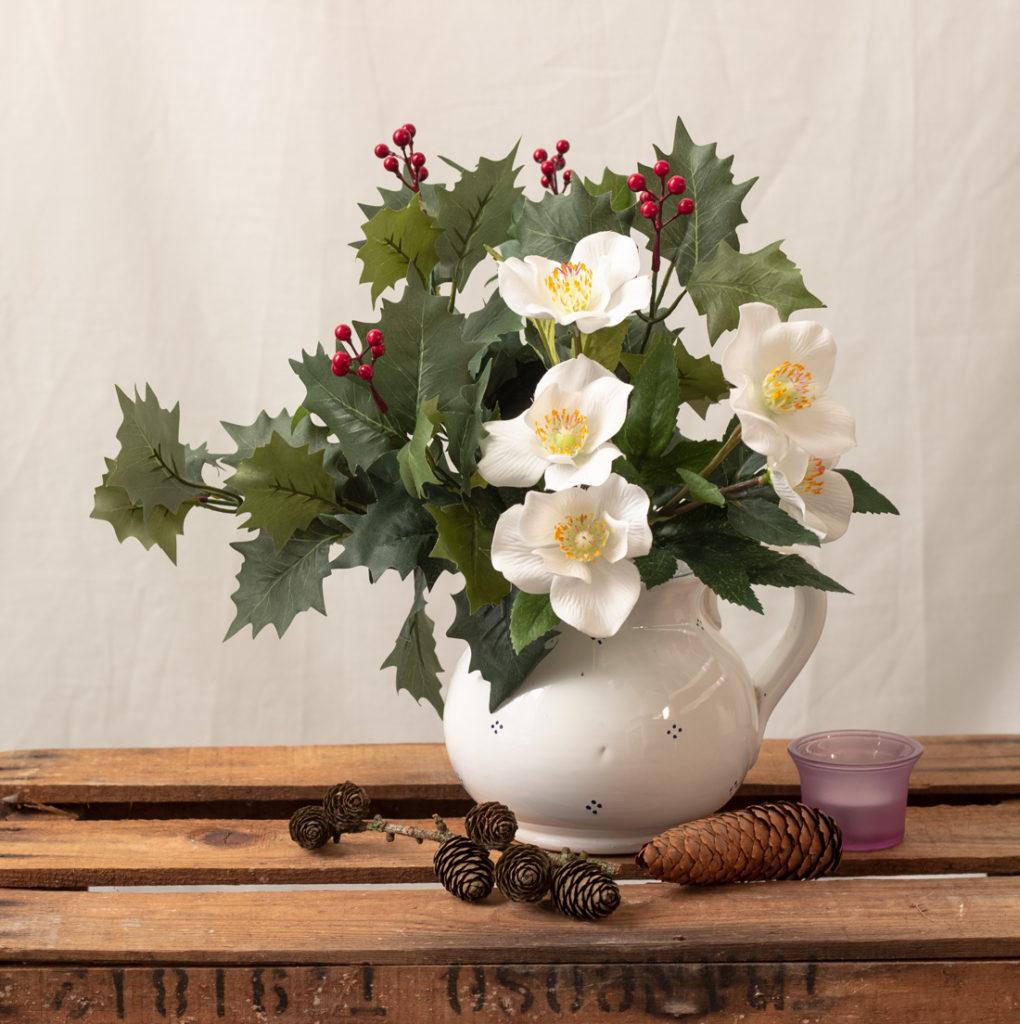 Christrose - eine Rose zu Weihnachten - Blumen-Steckbrief -artfleur